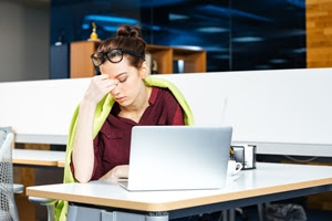 Stressed employees are less productive.