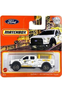 Matchbox MB970 : 2015 Ford F-150 Contractor Truck (Black window variant)