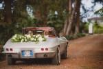 Classic Corvette in Wedding