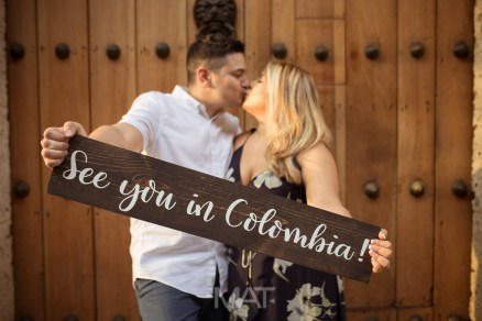 See you in Colombia Sign Wedding In Cartagena