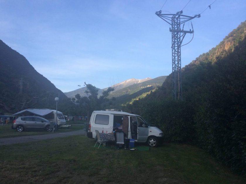 Näissä maisemissa kelpasi leiriytyä! Andorran ja Espanjan rajalla.