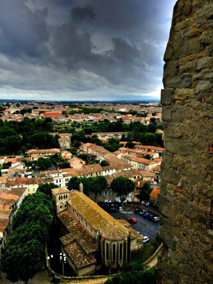 Näkymää Carcassonnen uuteen kaupunkiin.