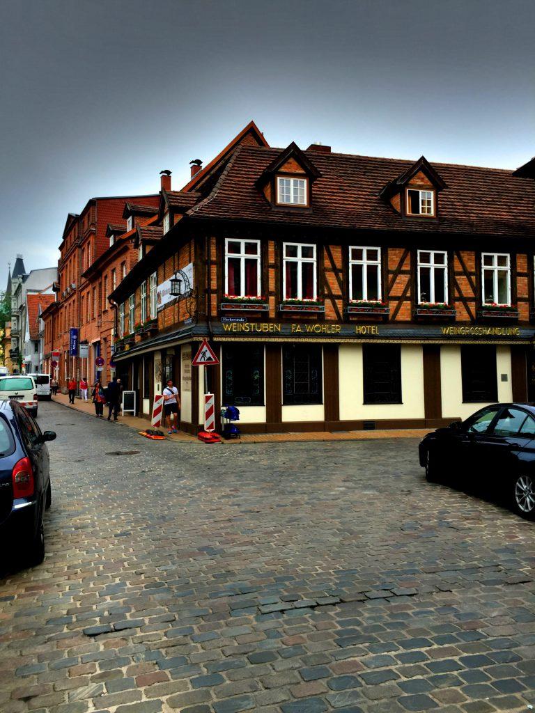 Schwerinin vanhaa kaupunkia.