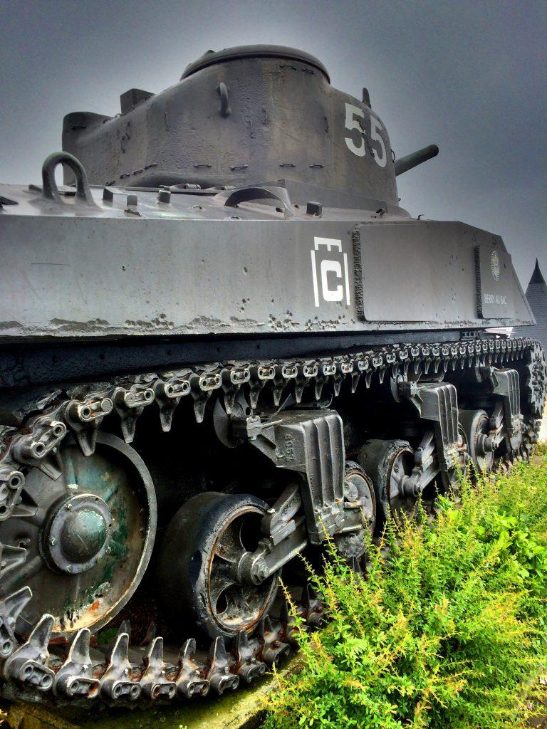 Toisessa maailmansodassa käytetty tankki.