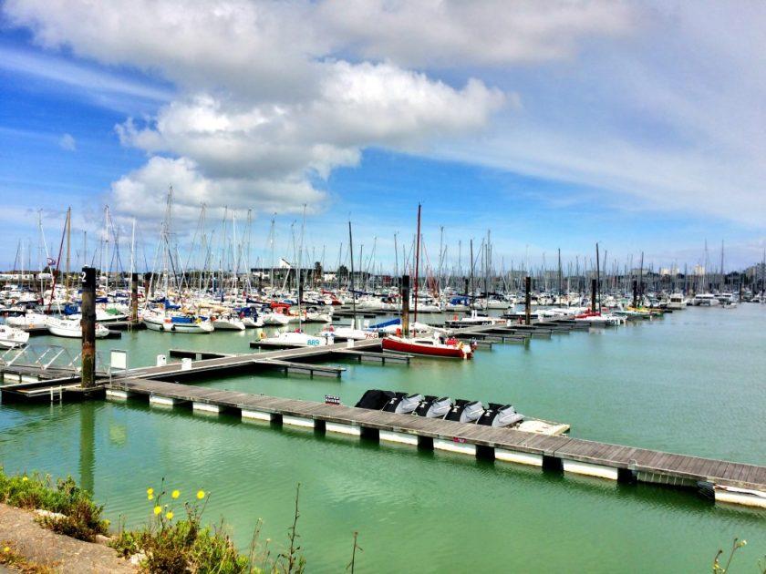 La Rochellen satama-aluetta.
