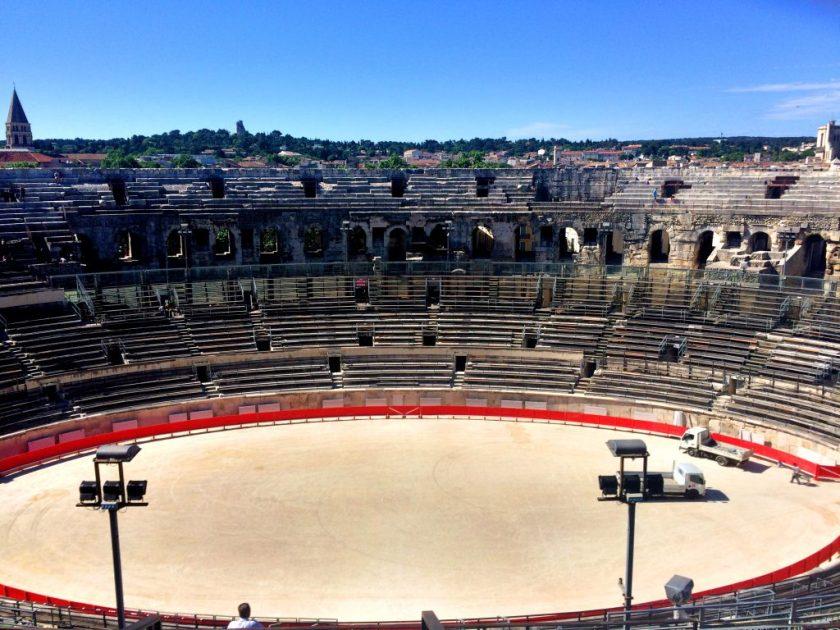 Nîmesin härkätaisteluareena.