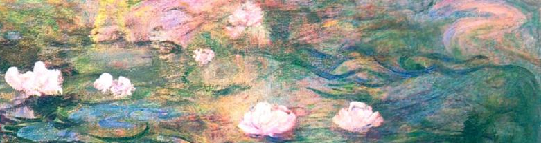 Waterlilies by Claude Monet, Detail