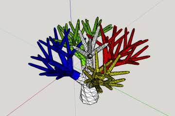 SketchUp Baum Gruppen