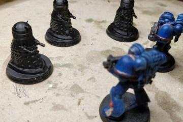 3 Daleks erobern das Schlachtfeld