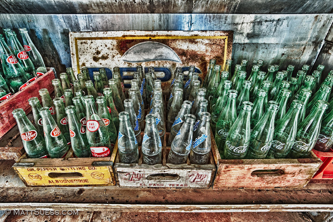 """Empty Bottles"" - New Mexico Click on photo to view larger & to purchase prints."