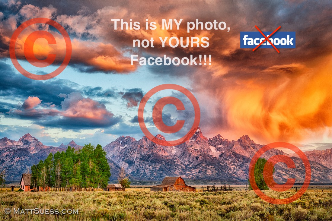 Perhaps if one puts enough watermarks on a photo Facebook just won't even be interested in it.