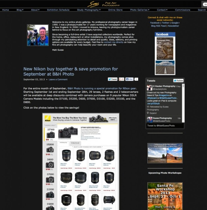 The look of my old blog pages, of which archives can be found at: http://www.mattsuess.com/blog
