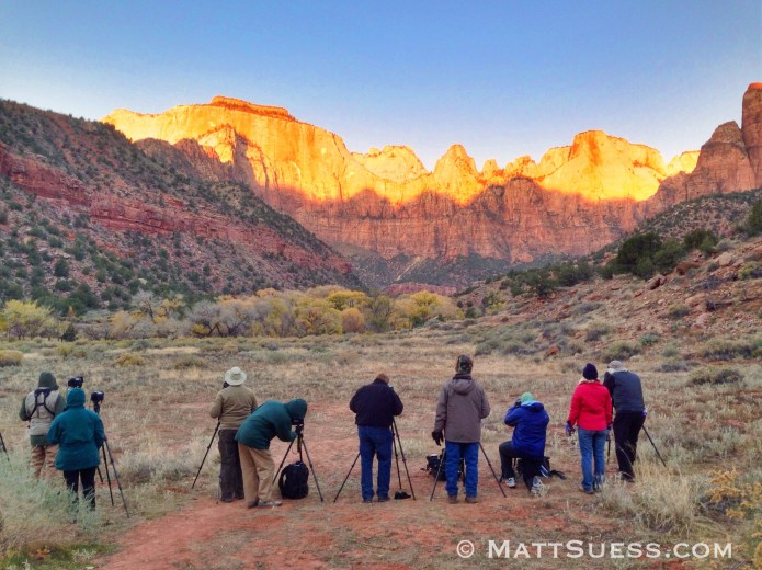 Getting up early to catch the first rays of sunlight is what is needed for great photos and our students were up for the challenge.
