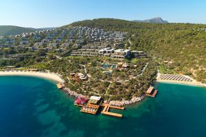The Mandarin Oriental Bodrum from the air.