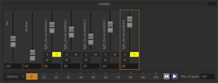 Multilight sliders