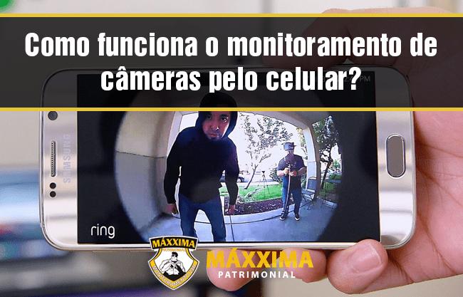 Como funciona o monitoramento de câmeras pelo celular