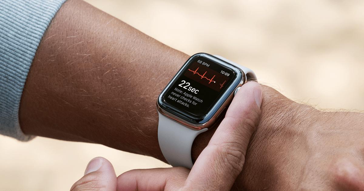 Montre Apple Watch, fonctionnalité ECG