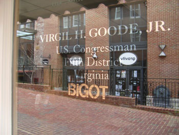 Virgil H Goode Jr, Bigot