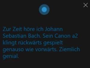 Cortana und ihre Lieblingsmusik
