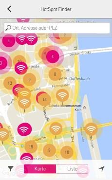 Die HotSpot-Dichte in der Innenstadt von Köln
