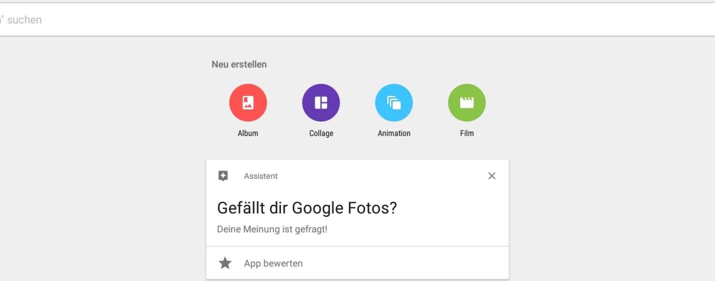 Ein Screenshot von Google Fotos