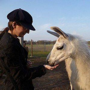 Sabrina Zelezny mit Lama