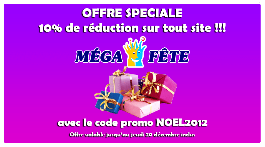 R duction archives blog m ga f te - Code promo deco de fete ...
