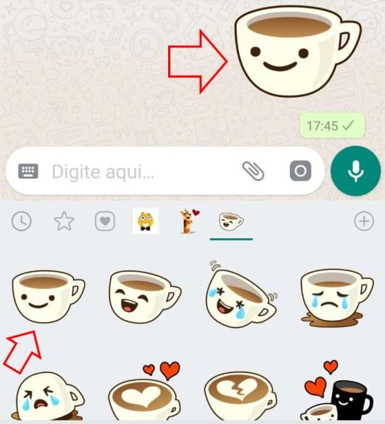como enviar figurinhas no whatsapp android