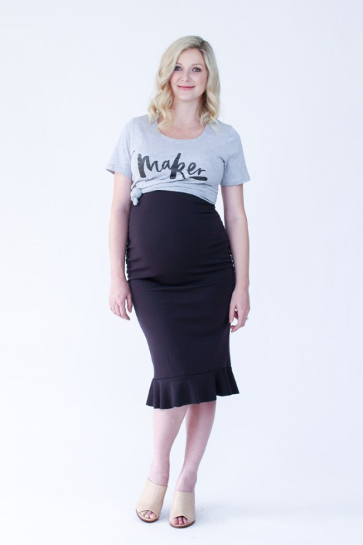 Megan Nielsen Erin maternity skirt sewing pattern