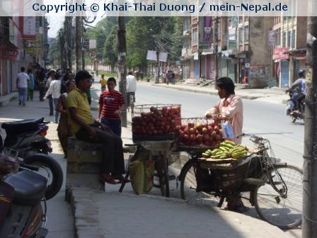 Auch im Paradies von Pokhara wird gestreikt