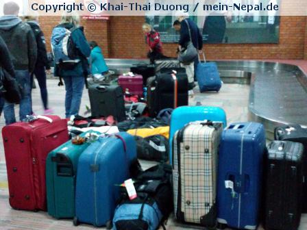 Wenn der Koffer nicht mit nach Nepal kommt…