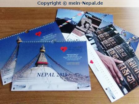 Nepal Kalender 2015 im mein-Nepal Onlineshop