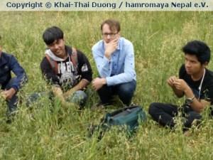 Julian, ein Mitglied des Vereins hamromaya Nepal e.V. war während des Erdbebens in Nepal.