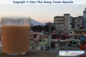 Dachterrasse, Milchtee, Himalaya, Beatles - Was will man mehr?!