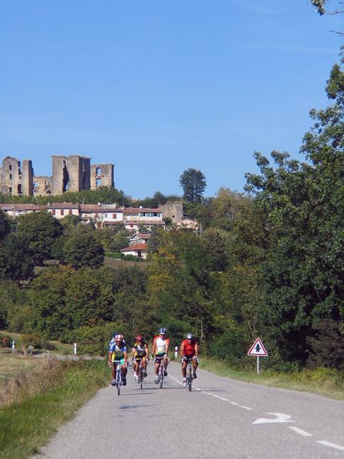 bikers on bikes in france