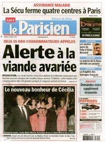 Le Parisien cover