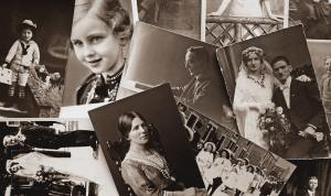 Old photographic prints of mostly people