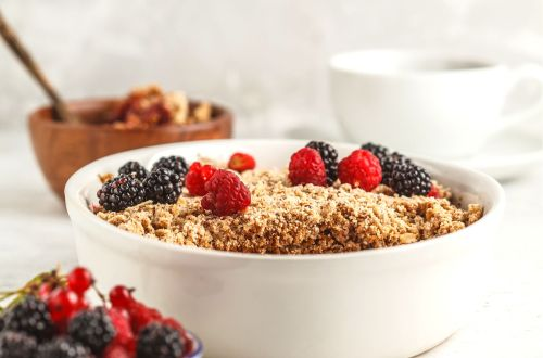 breakfast berries crumble