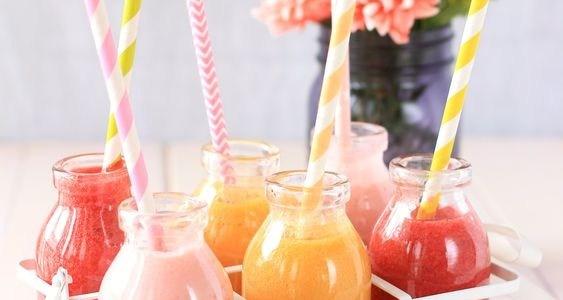 smoothies aux fruits d'été