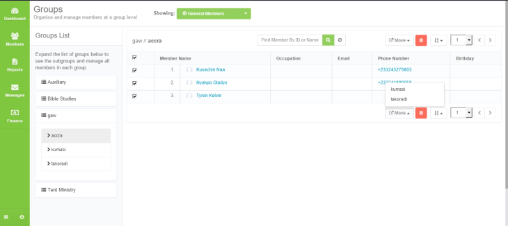 Updated group management user interface.