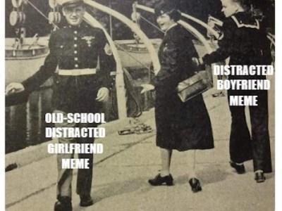 old school distracted girlfriend