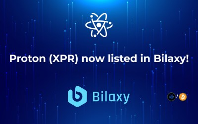Proton (XPR) now listed in Bilaxy!