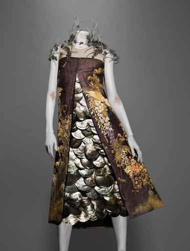 oyster shell dress by McQueen