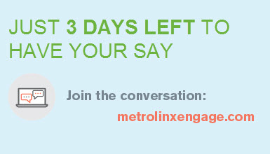 Three days left to have your say. Click to join the conversation at metrolinxengage.com