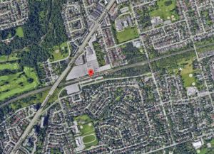 Aerial photo of the Guildwood community from today.