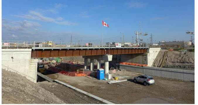 Photo of yhe Expansion of the Centennial Parkway Bridge in Stoney Creek.