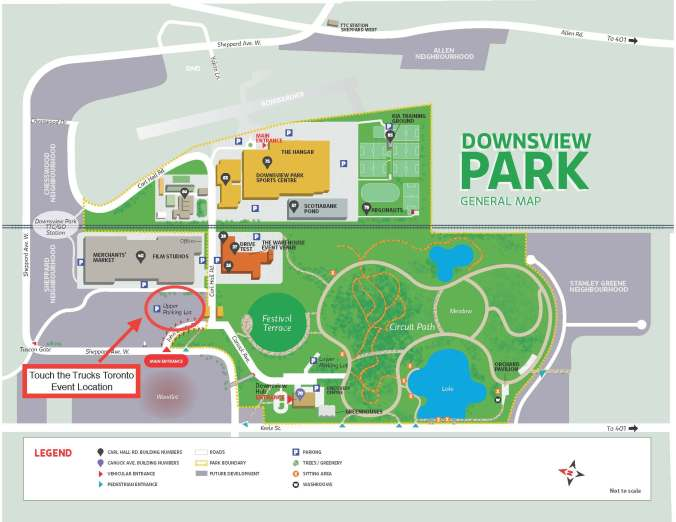 Image is a map of Downview Park.
