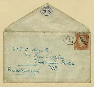 Image shows an old envelope.