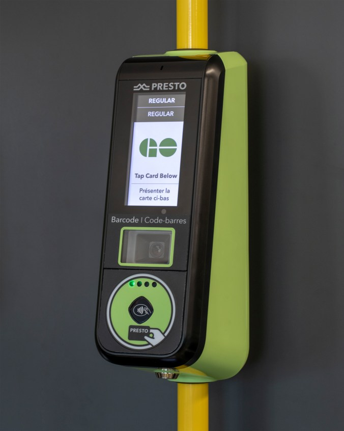 Image shows a PRESTO machine, with upgraded features, including a larger than normal screen.