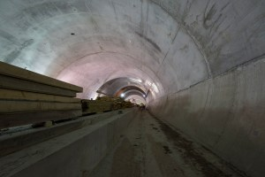 A view of the LRT tunnel.